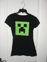 "GIRLS ""MINECRAFT CREEPER HEAD"" SHIRT SIZE SMALL (ABOUT 10/12 CHILD SIZE) in Camp Lejeune, North Carolina"