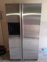 GE Profile Counter Depth Stainless Side by Side Refrigerator in Kingwood, Texas