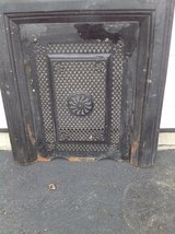 Antique fireplace surround and cover in Naperville, Illinois