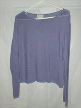 Long Sleeve - Petite - Purple Pullover Top - Size L in Naperville, Illinois