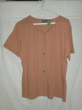 Short Sleeve - Brown Button Front Top - Size L - 12/14 in Westmont, Illinois