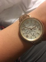 Rose gold fossil watch in Beaufort, South Carolina