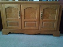 "Light Oak Cabinet with inside shelves 54"" long 17 "" Deep 31"" High in Tinley Park, Illinois"