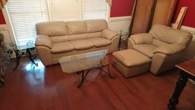 Couch Set With Glass Tables! in Warner Robins, Georgia