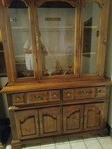 4 large solid wood china cabinets to choose from. $75.00 choice each in Rolla, Missouri
