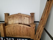 4 large solid wood china cabinets & solid wood 4 poster bed for sale in Rolla, Missouri