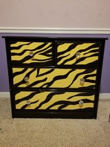 Hand Painted Zebra Print Dresser in Camp Lejeune, North Carolina