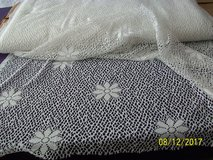 "huge roll of 64"" wide white daisy pattern lace yardage--only $1 per yard in Goldsboro, North Carolina"