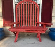 Primitive Wood Red Chair in Fort Rucker, Alabama