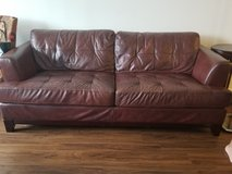 Brown red sofa couch in Lockport, Illinois
