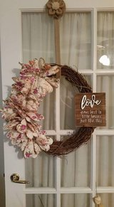 Shabby wreath in Lawton, Oklahoma