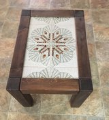Wood & Tile End Table in 29 Palms, California