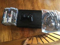 PS3, controller, games, and wires in Yorkville, Illinois