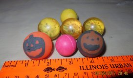 7 Bouncy Balls (2 have Jack-O-Latern on them) in Oswego, Illinois