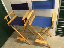 Tall Pier 1 Director's Chairs - Set of 2 Blue Covers in Fort Meade, Maryland