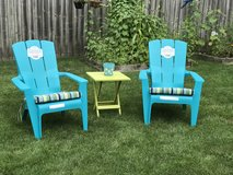 Brand New 5pc lot Outdoor lawn patio deck chairs w Cushions Table in Sugar Grove, Illinois