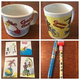 Two Curious George mugs, two pens & four postcards in Warner Robins, Georgia