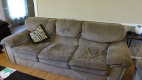 Couch and a matching love seat in Cherry Point, North Carolina