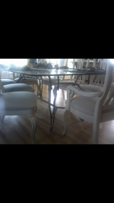 Large Glass Table & 8 chairs in Camp Lejeune, North Carolina