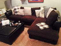 Sectional Couch and Ottoman in Kirtland AFB, New Mexico