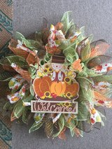 scarecrow wreath in Fort Bragg, North Carolina