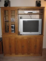 Beautiful OAK Media/entertainment center - lots of storage in lower section in Batavia, Illinois