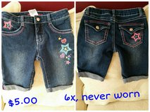 Girls Jean shorts with stars, new in Joliet, Illinois