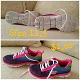 Girls skechers memory foam gym shoes in Joliet, Illinois