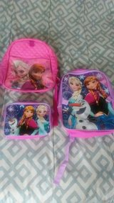 2 Elsa and anna backpacks in Conroe, Texas
