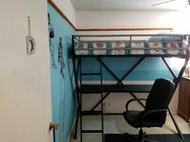 Twin Loft Bed w/Desk & Chair in Fort Bliss, Texas