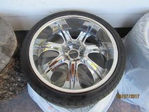 22 inch wheels with tires in good shape. in Vacaville, California