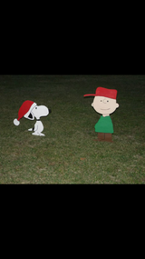 Charlie Brown yard decoration in Leesville, Louisiana