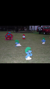 Smurf village. in Leesville, Louisiana
