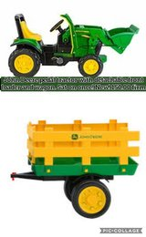 John Deere pedal tractor with detachable front loader and wagon in Fort Knox, Kentucky