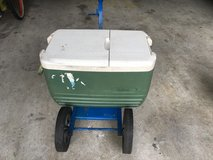 fishing cart for cooler on pier or surf in Camp Lejeune, North Carolina