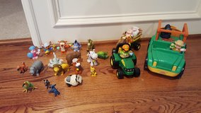 Fisher-Price Little People Zoo Talkers Animal Sounds Safari Truck and John Deere Animal Sounds H... in Kingwood, Texas