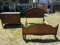 Vintage Headboard, Footboard and Dresser set in Fairfield, California