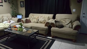 Over sized couches in Yucca Valley, California