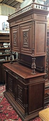 Antique Oak Buffet with Subtle Carviings in Ramstein, Germany