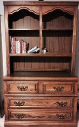 solid oak dresser with hutch in Tinley Park, Illinois