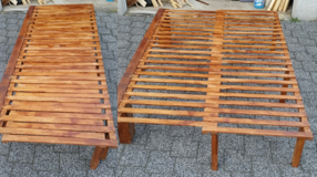Bed Frame - Wooden, expandable FULL SIZE, SINGLE in Wiesbaden, GE