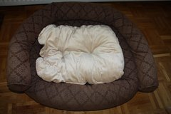 Large Bolster Dog Bed with Extra Plush Pillow in Ramstein, Germany