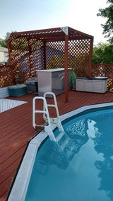 outdoor deck, pool bar. in Lockport, Illinois