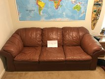 Light Brown Leather Couch in Leesville, Louisiana