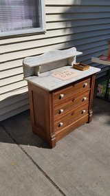 Antique Wash Stand with marble top in Naperville, Illinois
