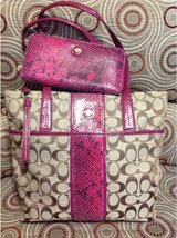 Authentic Coach Bag and Full size zip around Coach Wallet  (item 2) in Leesville, Louisiana
