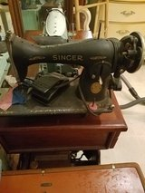 Singer sewing machine w/cast iron & wooden table-bonus vintage sewing machine in Beaufort, South Carolina