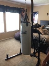 Everlast punching bag with stand in Leesville, Louisiana