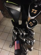 Men's LH golf club set w/Cart Bag +umbrella in Ramstein, Germany