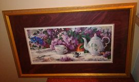 Beautiful Wall Picture of a Teapot,Cup and Flowers in Kingwood, Texas